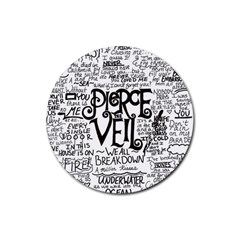 Pierce The Veil Music Band Group Fabric Art Cloth Poster Rubber Round Coaster (4 Pack)  by Onesevenart