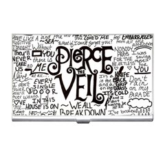 Pierce The Veil Music Band Group Fabric Art Cloth Poster Business Card Holders by Onesevenart