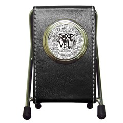 Pierce The Veil Music Band Group Fabric Art Cloth Poster Pen Holder Desk Clocks by Onesevenart