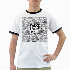 Pierce The Veil Music Band Group Fabric Art Cloth Poster Ringer T Shirts by Onesevenart