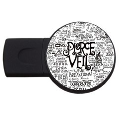 Pierce The Veil Music Band Group Fabric Art Cloth Poster Usb Flash Drive Round (4 Gb) by Onesevenart