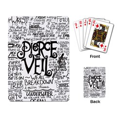 Pierce The Veil Music Band Group Fabric Art Cloth Poster Playing Card by Onesevenart