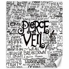 Pierce The Veil Music Band Group Fabric Art Cloth Poster Canvas 8  X 10  by Onesevenart