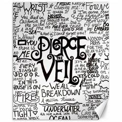 Pierce The Veil Music Band Group Fabric Art Cloth Poster Canvas 16  X 20   by Onesevenart