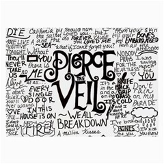 Pierce The Veil Music Band Group Fabric Art Cloth Poster Large Glasses Cloth (2 Side) by Onesevenart