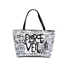 Pierce The Veil Music Band Group Fabric Art Cloth Poster Shoulder Handbags by Onesevenart