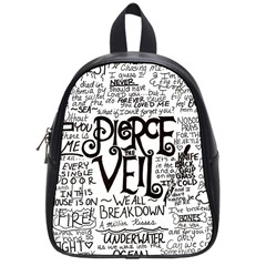 Pierce The Veil Music Band Group Fabric Art Cloth Poster School Bags (small)  by Onesevenart