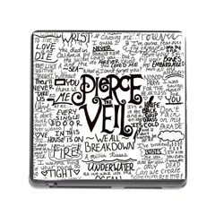 Pierce The Veil Music Band Group Fabric Art Cloth Poster Memory Card Reader (square) by Onesevenart