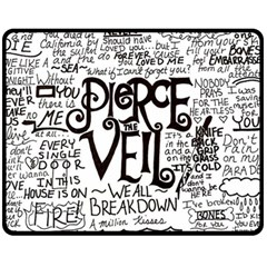 Pierce The Veil Music Band Group Fabric Art Cloth Poster Fleece Blanket (medium)  by Onesevenart