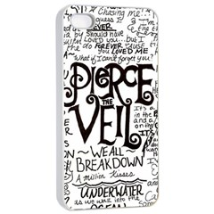 Pierce The Veil Music Band Group Fabric Art Cloth Poster Apple Iphone 4/4s Seamless Case (white) by Onesevenart