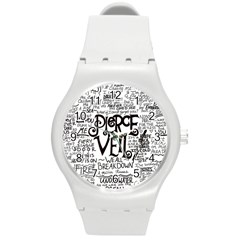 Pierce The Veil Music Band Group Fabric Art Cloth Poster Round Plastic Sport Watch (m) by Onesevenart