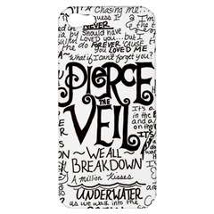 Pierce The Veil Music Band Group Fabric Art Cloth Poster Apple Iphone 5 Hardshell Case by Onesevenart