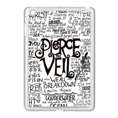 Pierce The Veil Music Band Group Fabric Art Cloth Poster Apple Ipad Mini Case (white) by Onesevenart