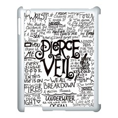Pierce The Veil Music Band Group Fabric Art Cloth Poster Apple Ipad 3/4 Case (white) by Onesevenart