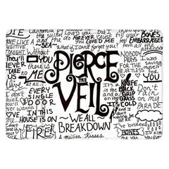 Pierce The Veil Music Band Group Fabric Art Cloth Poster Samsung Galaxy Tab 8 9  P7300 Flip Case by Onesevenart