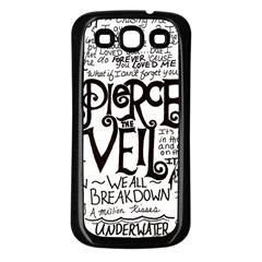 Pierce The Veil Music Band Group Fabric Art Cloth Poster Samsung Galaxy S3 Back Case (black) by Onesevenart