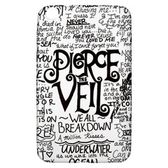 Pierce The Veil Music Band Group Fabric Art Cloth Poster Samsung Galaxy Tab 3 (8 ) T3100 Hardshell Case  by Onesevenart