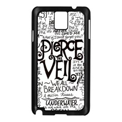Pierce The Veil Music Band Group Fabric Art Cloth Poster Samsung Galaxy Note 3 N9005 Case (black) by Onesevenart