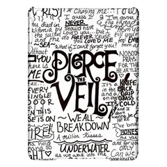 Pierce The Veil Music Band Group Fabric Art Cloth Poster Ipad Air Hardshell Cases by Onesevenart