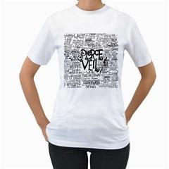 Pierce The Veil Music Band Group Fabric Art Cloth Poster Women s T Shirt (white)  by Onesevenart