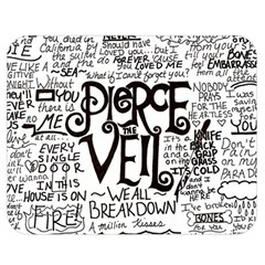 Pierce The Veil Music Band Group Fabric Art Cloth Poster Double Sided Flano Blanket (medium)  by Onesevenart