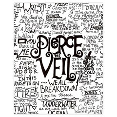 Pierce The Veil Music Band Group Fabric Art Cloth Poster Drawstring Bag (small) by Onesevenart