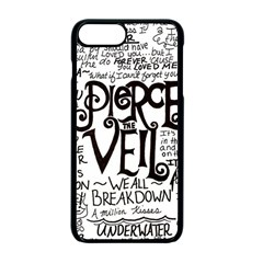 Pierce The Veil Music Band Group Fabric Art Cloth Poster Apple Iphone 7 Plus Seamless Case (black) by Onesevenart
