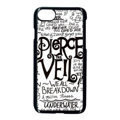 Pierce The Veil Music Band Group Fabric Art Cloth Poster Apple Iphone 7 Seamless Case (black) by Onesevenart