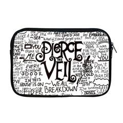 Pierce The Veil Music Band Group Fabric Art Cloth Poster Apple Macbook Pro 17  Zipper Case by Onesevenart
