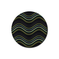 Abstraction Rubber Coaster (round)  by Valentinaart