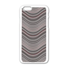 Abstraction Apple Iphone 6/6s White Enamel Case by Valentinaart