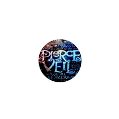 Pierce The Veil Quote Galaxy Nebula 1  Mini Magnets by Onesevenart