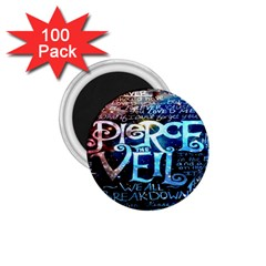 Pierce The Veil Quote Galaxy Nebula 1 75  Magnets (100 Pack)  by Onesevenart