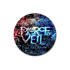 Pierce The Veil Quote Galaxy Nebula Magnet 3  (round) by Onesevenart