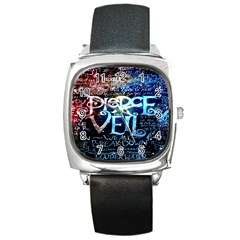 Pierce The Veil Quote Galaxy Nebula Square Metal Watch by Onesevenart