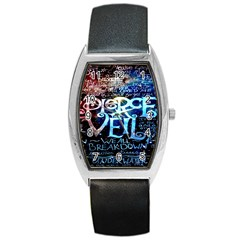 Pierce The Veil Quote Galaxy Nebula Barrel Style Metal Watch by Onesevenart