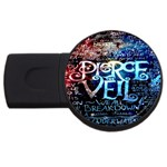 Pierce The Veil Quote Galaxy Nebula USB Flash Drive Round (4 GB)