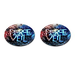 Pierce The Veil Quote Galaxy Nebula Cufflinks (oval) by Onesevenart