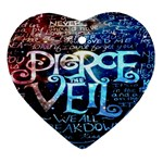 Pierce The Veil Quote Galaxy Nebula Heart Ornament (Two Sides)