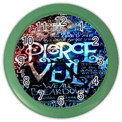 Pierce The Veil Quote Galaxy Nebula Color Wall Clocks by Onesevenart