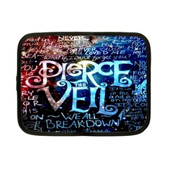 Pierce The Veil Quote Galaxy Nebula Netbook Case (small)  by Onesevenart