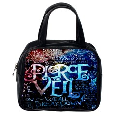 Pierce The Veil Quote Galaxy Nebula Classic Handbags (one Side) by Onesevenart