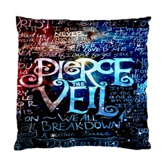 Pierce The Veil Quote Galaxy Nebula Standard Cushion Case (one Side) by Onesevenart