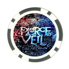 Pierce The Veil Quote Galaxy Nebula Poker Chip Card Guard (10 Pack) by Onesevenart