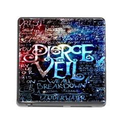 Pierce The Veil Quote Galaxy Nebula Memory Card Reader (square) by Onesevenart