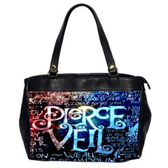 Pierce The Veil Quote Galaxy Nebula Office Handbags (2 Sides)  by Onesevenart