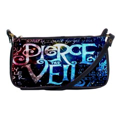 Pierce The Veil Quote Galaxy Nebula Shoulder Clutch Bags by Onesevenart