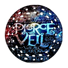 Pierce The Veil Quote Galaxy Nebula Round Filigree Ornament (two Sides) by Onesevenart