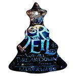 Pierce The Veil Quote Galaxy Nebula Christmas Tree Ornament (Two Sides)