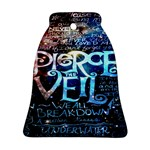 Pierce The Veil Quote Galaxy Nebula Bell Ornament (Two Sides)
